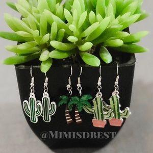 Jewelry - Cactus / Palm-tree earrings